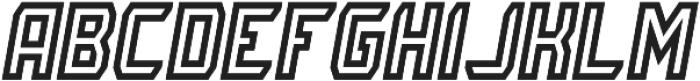 Rivalry 0117 Inline Italic ttf (400) Font UPPERCASE