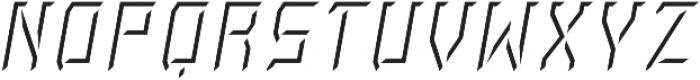 Rivalry 0117 Light BEVEL Highlight Italic ttf (300) Font UPPERCASE