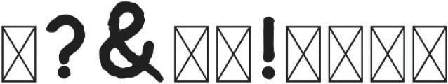 Riverfall Textured Sans 1 ttf (400) Font OTHER CHARS