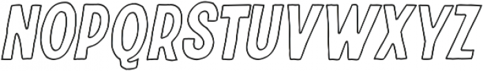 Riverside Outline Italic otf (400) Font LOWERCASE