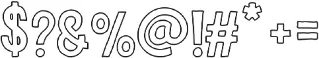 Riverside Outline otf (400) Font OTHER CHARS