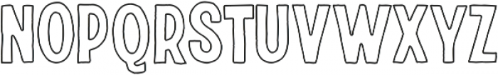 Riverside Outline otf (400) Font LOWERCASE
