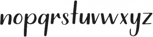 Riverwood Hand otf (400) Font LOWERCASE