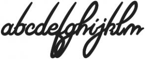Riviera Signature Font otf (400) Font LOWERCASE