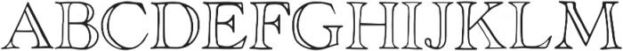 Rivina TC Outline otf (400) Font UPPERCASE