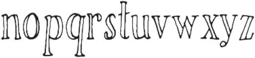 Rivina TC Pen Cn Outline otf (400) Font LOWERCASE