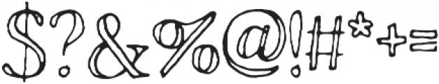 Rivina TC Pen Outline otf (400) Font OTHER CHARS