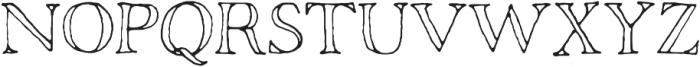 Rivina TC Pen Outline otf (400) Font UPPERCASE