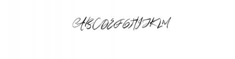 Right-Regular.otf Font UPPERCASE