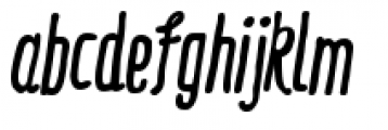 Ride My Bike Essential Bold Italic Font LOWERCASE
