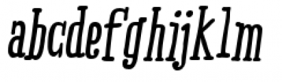 Ride my Bike Serif Essential Bold Italic Font LOWERCASE