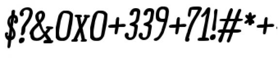 Ride my Bike Serif Pro Bold Italic Font OTHER CHARS