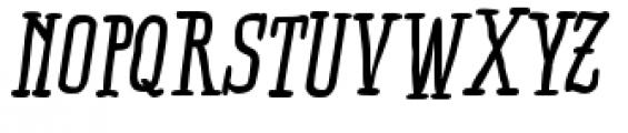 Ride my Bike Serif Pro Bold Italic Font UPPERCASE