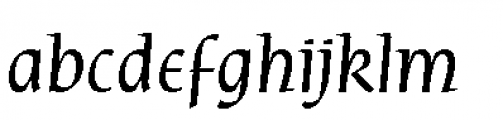Rieven Uncial Italic Font LOWERCASE