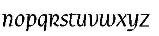 Rieven Uncial Pro Italic Font LOWERCASE