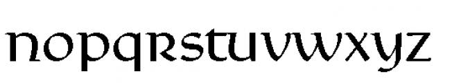 Rieven Uncial Pro Regular Font LOWERCASE