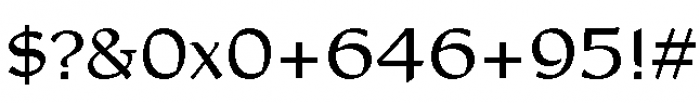 Rieven Uncial Regular Font OTHER CHARS