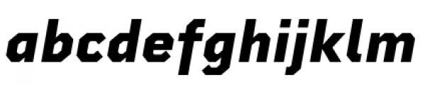 Rigid Square Extra Bold Italic Font LOWERCASE