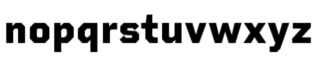 Rigid Square Extra Bold Font LOWERCASE