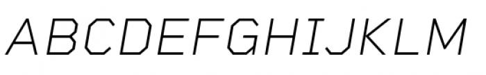 Rigid Square Extra Light Italic Font UPPERCASE
