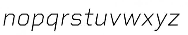 Rigid Square Extra Light Italic Font LOWERCASE