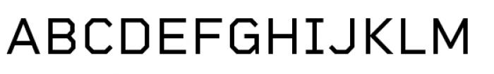 Rigid Square Regular Font UPPERCASE