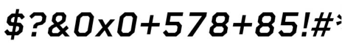 Rigid Square Semi Bold Italic Font OTHER CHARS