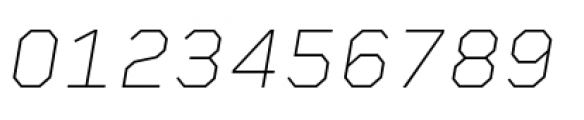 Rigid Square Thin Italic Font OTHER CHARS
