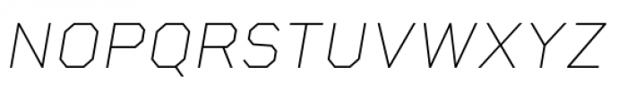 Rigid Square Thin Italic Font UPPERCASE