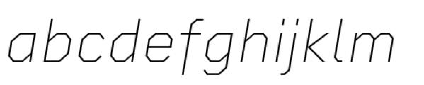Rigid Square Thin Italic Font LOWERCASE