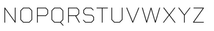 Rigid Square Thin Font UPPERCASE