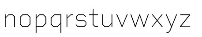 Rigid Square Thin Font LOWERCASE