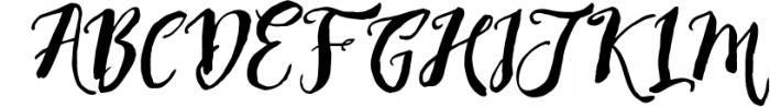 Rising Brush Script 1 Font UPPERCASE