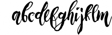 Rising Brush Script 1 Font LOWERCASE
