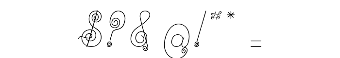 Ribambelle Font OTHER CHARS