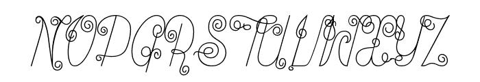 Ribambelle Font UPPERCASE