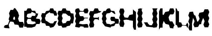 Ribbed Rough Rider Font UPPERCASE