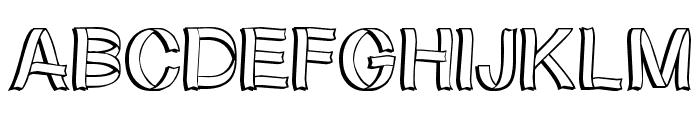 RibbonShadow Font UPPERCASE