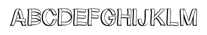 RibbonShadow Font LOWERCASE