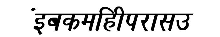 Richa Bold Italic Font LOWERCASE