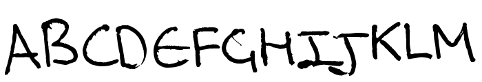 Rich's Riting Font UPPERCASE