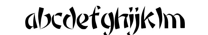 Rickshaw Regular Font LOWERCASE