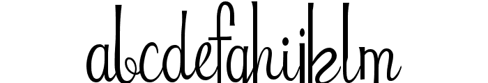 Riddle Font LOWERCASE