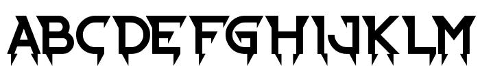 Ride the Lightning Font UPPERCASE