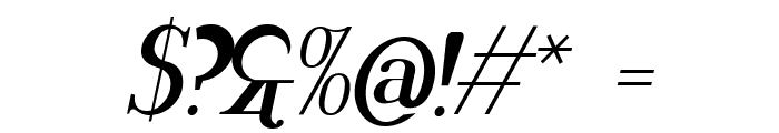 Rider Bold Italic Font OTHER CHARS