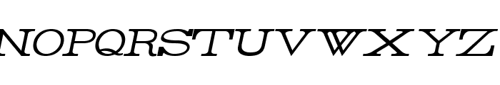 Rider Light Italic Font UPPERCASE