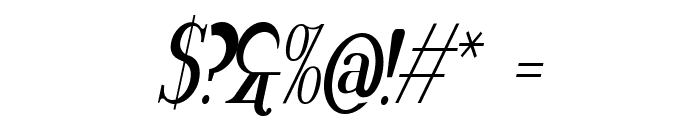 Rider Tall Ultra-condensed Bold Italic Font OTHER CHARS