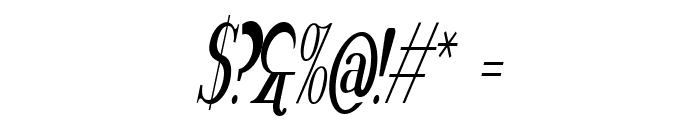 Rider Tall Ultra-condensed Light Italic Font OTHER CHARS