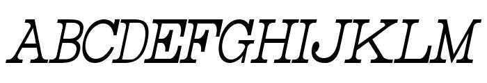 Rider Tall Ultra-condensed Light Italic Font UPPERCASE