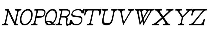 Rider Tall Ultra-condensed Light Italic Font LOWERCASE